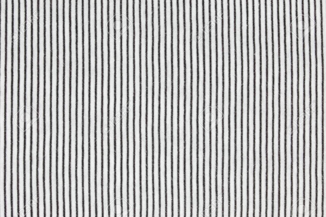 Abstract Black And White Striped Fabric Textured Background Stock