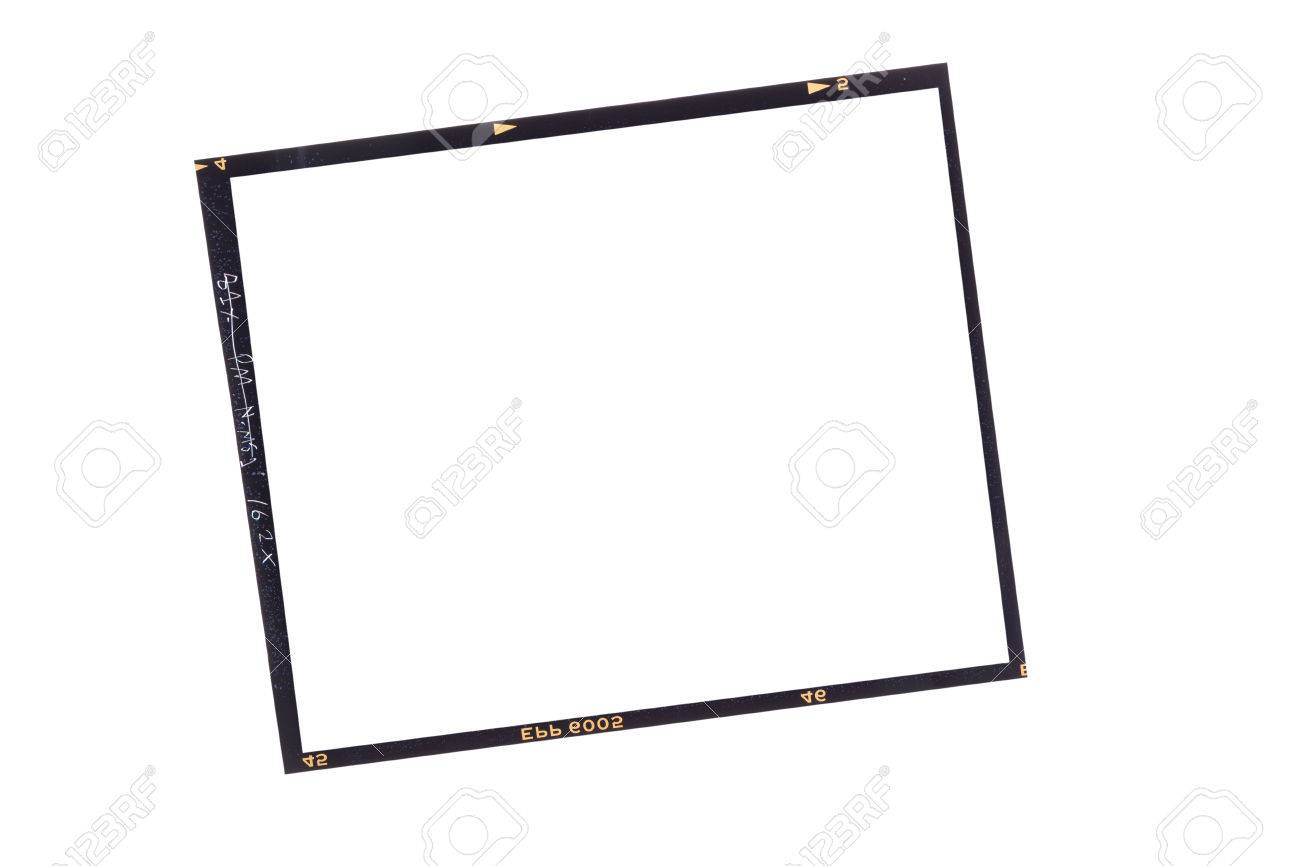 Fronteras De La Película, Formato Medio En Blanco (6x6) Fotograma De ...