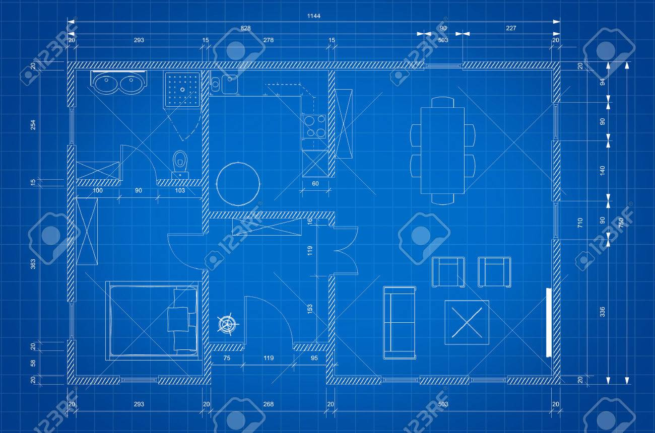 Blueprint of architect plan for personnal house construction stock blueprint of architect plan for personnal house construction stock photo 48007050 malvernweather Choice Image