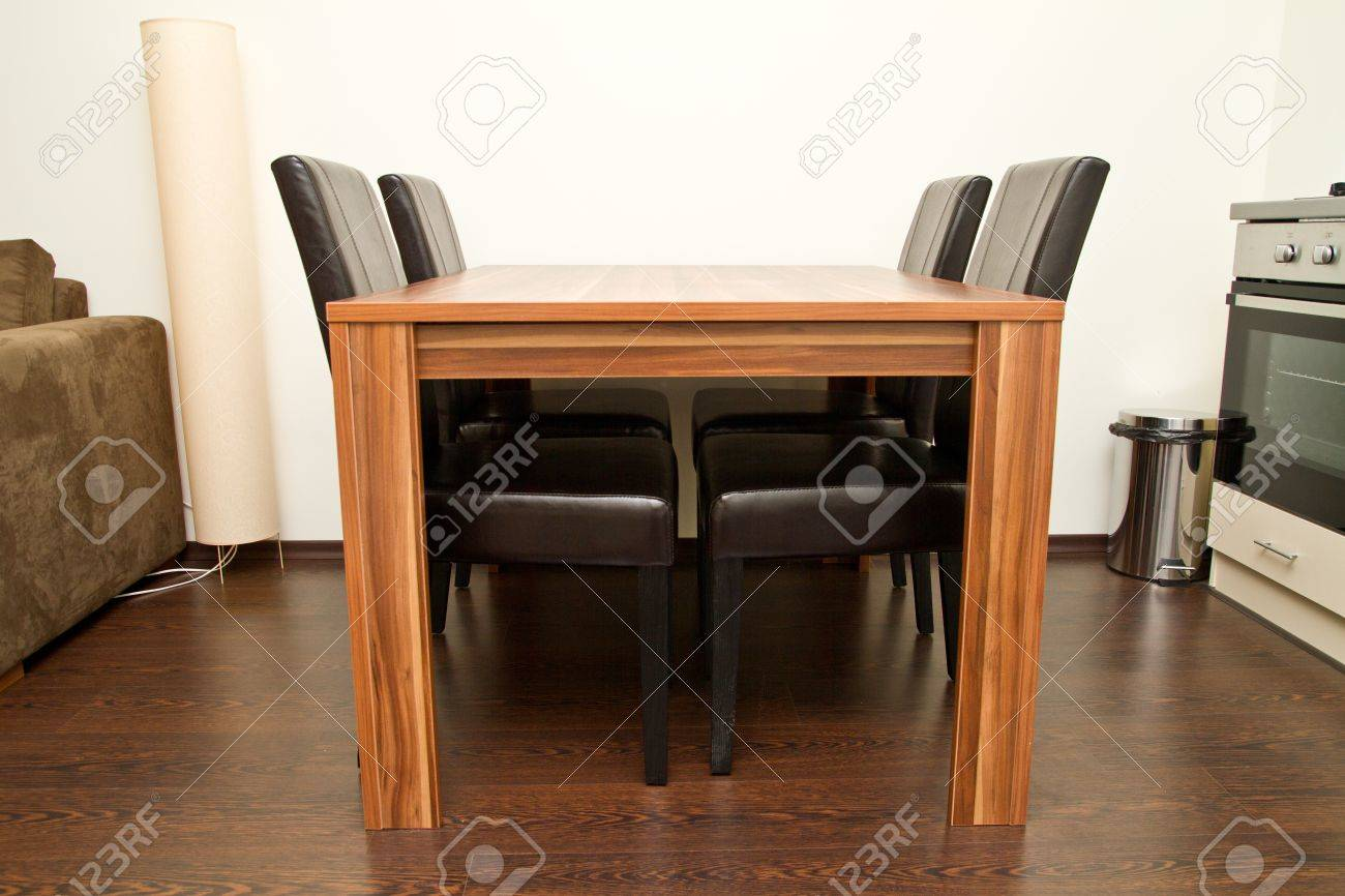 Empty dining table with four seats Stock Photo - 15409408