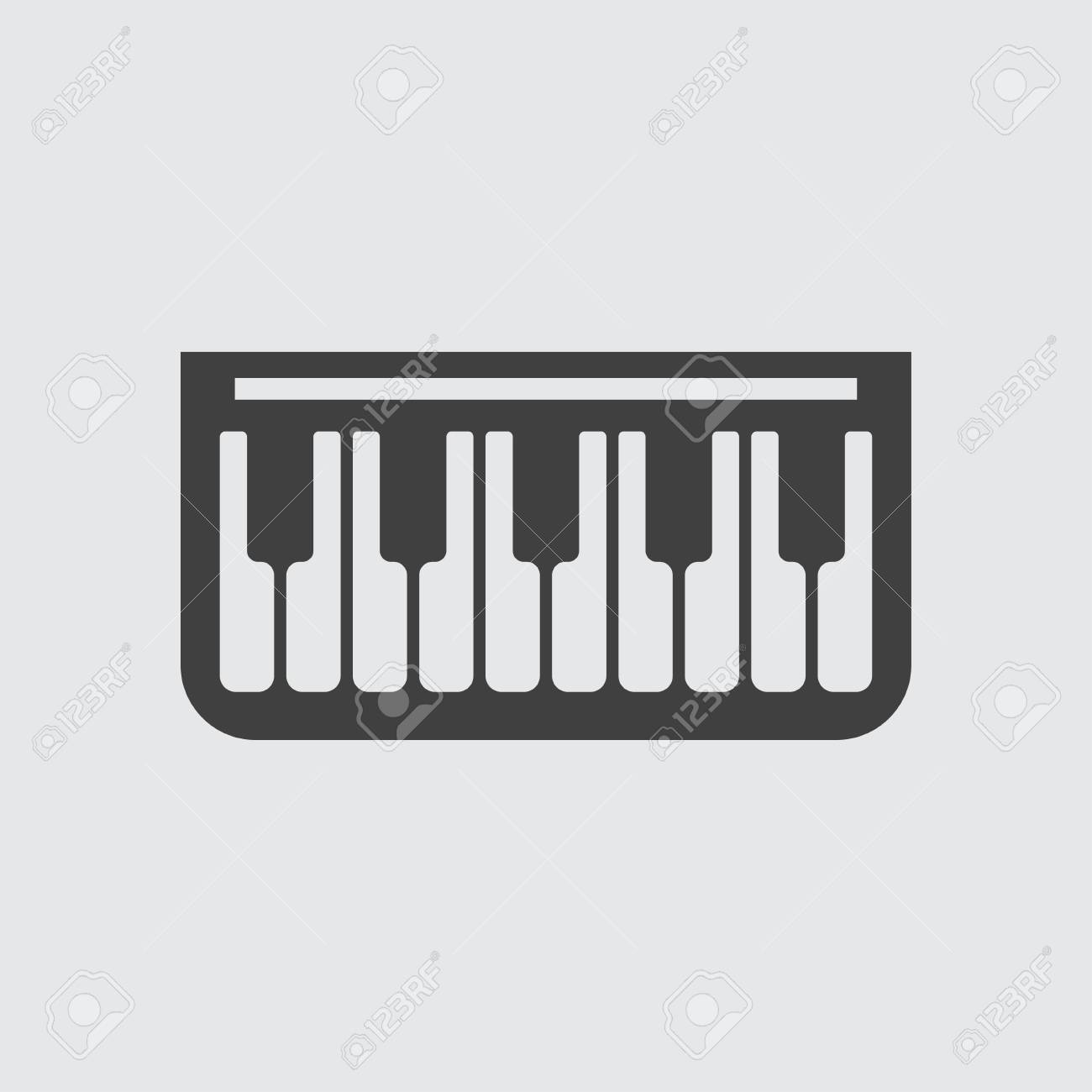 Piano Icon Icon Illustration Isolated Vector Sign Symbol Royalty