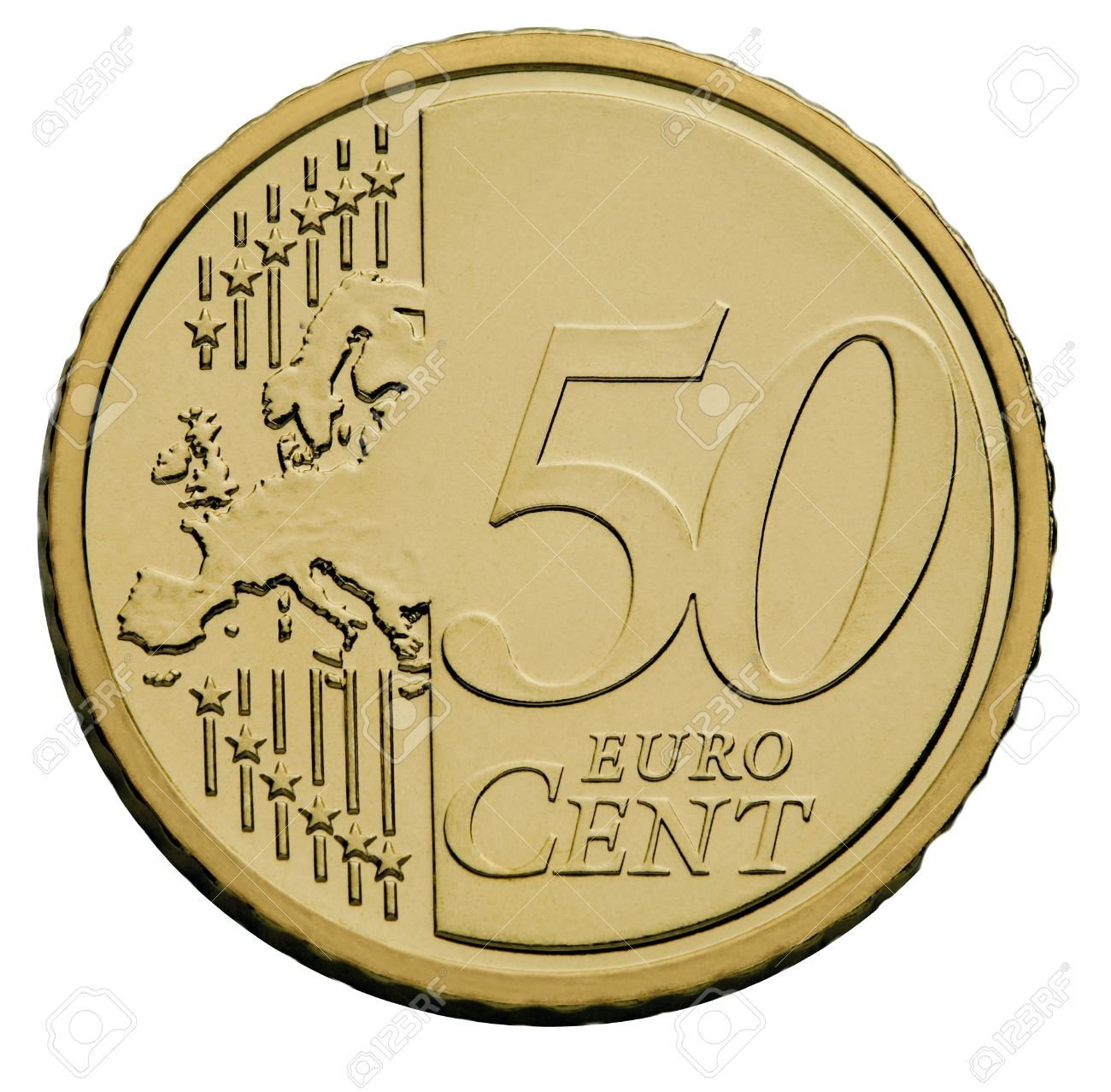 50 Cents Euro Coin Stock P O 1695339