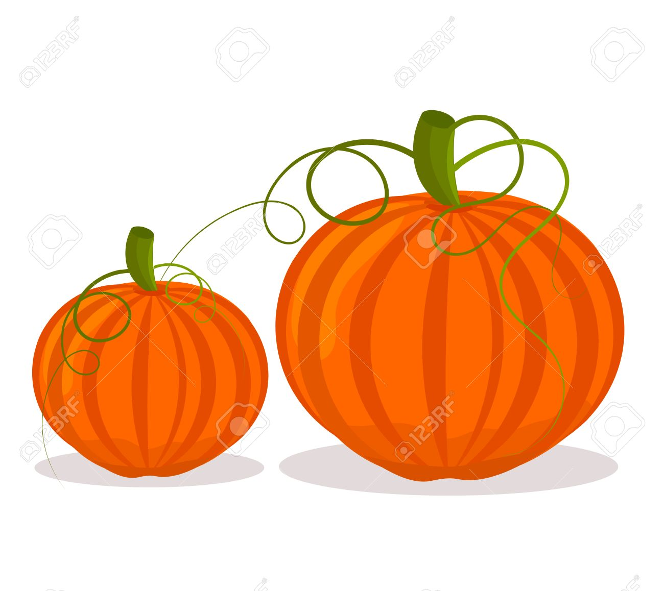 two pumpkins big and small over white royalty free cliparts rh 123rf com small pumpkin clipart free small pumpkin clipart free
