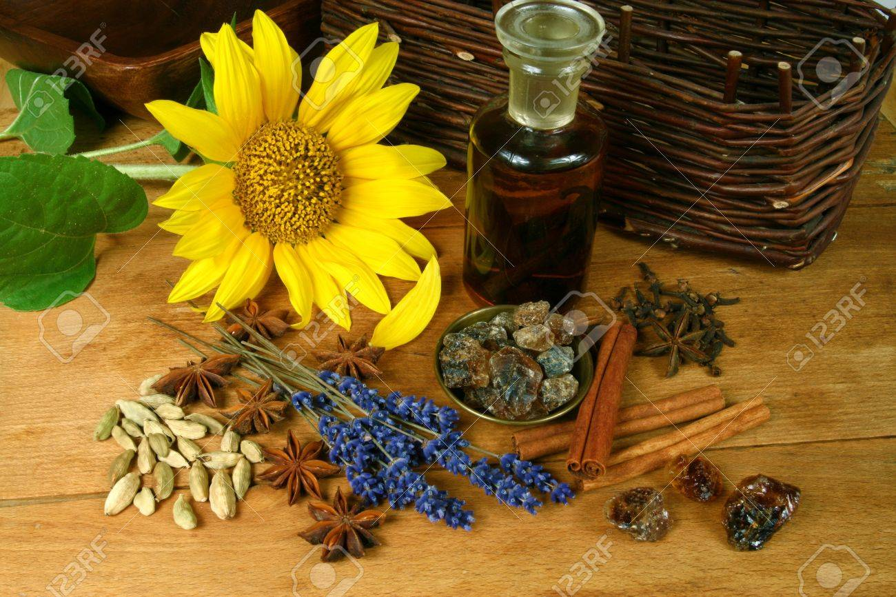 Sunflower Decoration For Kitchen Fresh Sunflower And Spices Rustic Kitchen Decoration Stock Photo