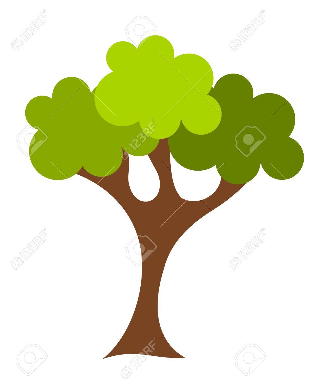 green cartoon oak tree vector illustration royalty free cliparts rh 123rf com oak tree vector free oak tree vector clip art