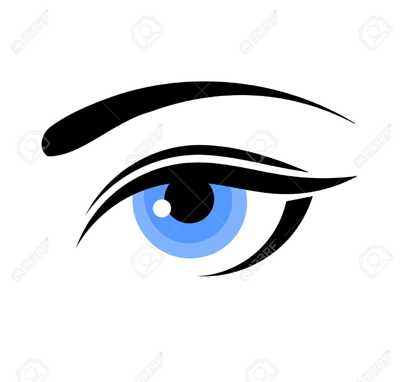beautiful blue woman eye vector illustration royalty free cliparts rh 123rf com vector eye centre calgary vector eye chart
