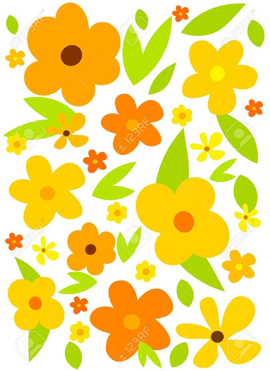 flower background with yellow flowers vector royalty free cliparts vectors and stock illustration image 9481763 flower background with yellow flowers vector