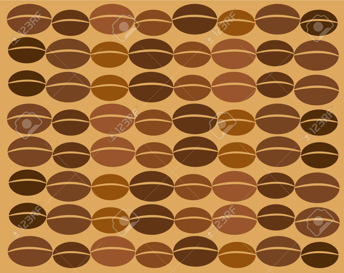 Coffee vector texture made of many beans in chain Stock Vector - 9838067