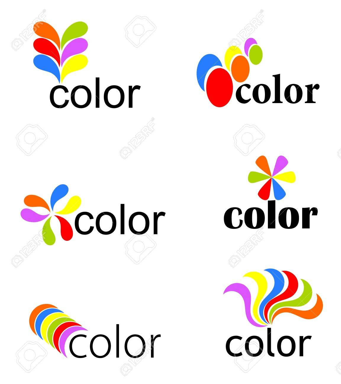 Set of vibrant colorful icons - vector illustration Stock Vector - 9838276