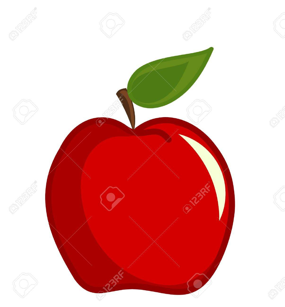 Red apple vector illustration Stock Vector - 9838072