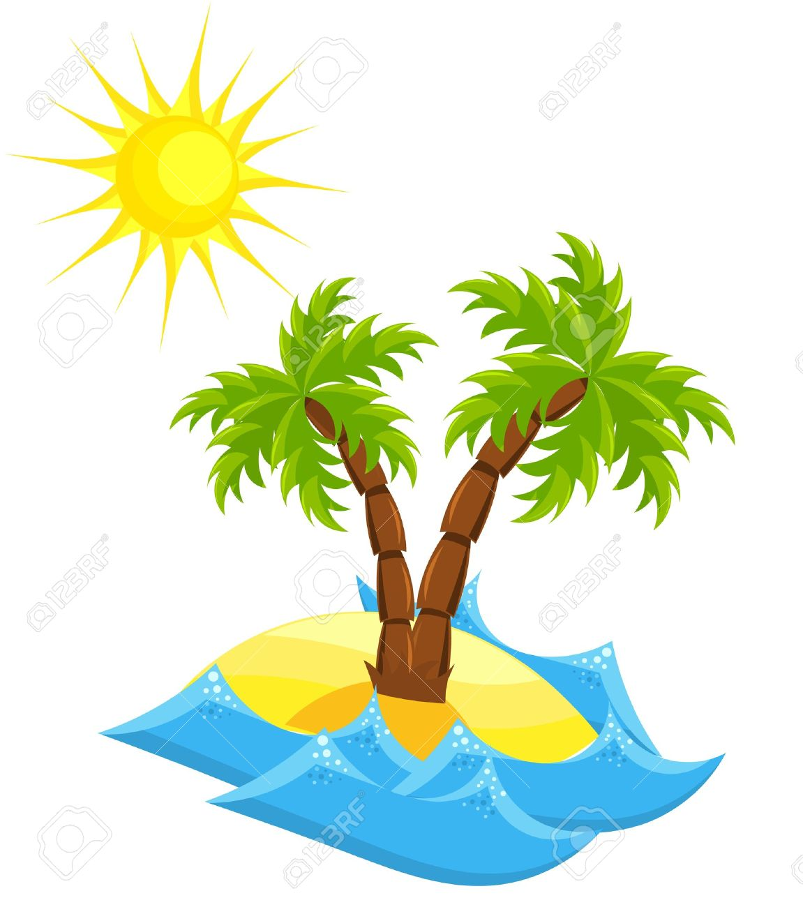 Summer vacation island. Stock Vector - 10045661