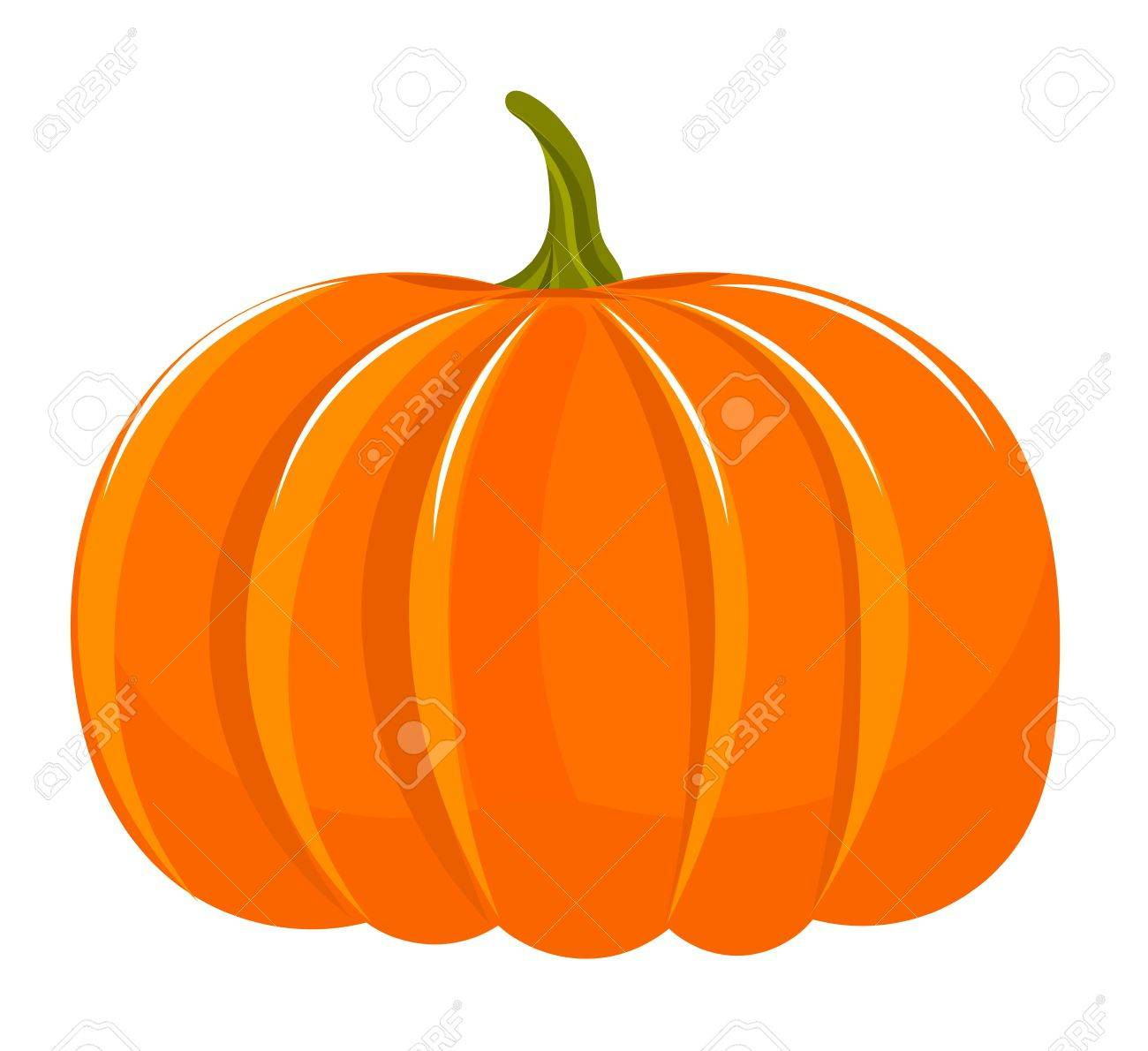 Pumpkin illustration isolated over white Stock Vector - 10723398