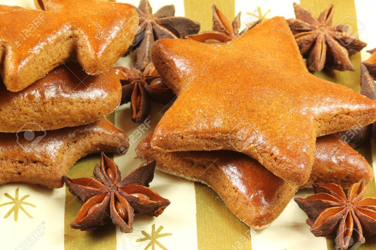 Gingerbead Christmas Cookies And Star Anise