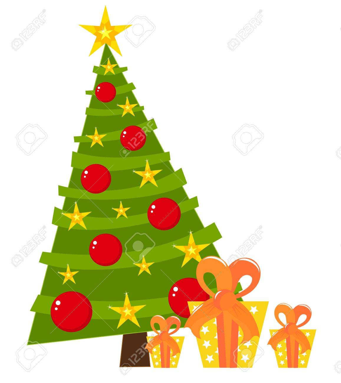 Real christmas trees with presents - Christmas Tree And Presents Stock Vector 11587862