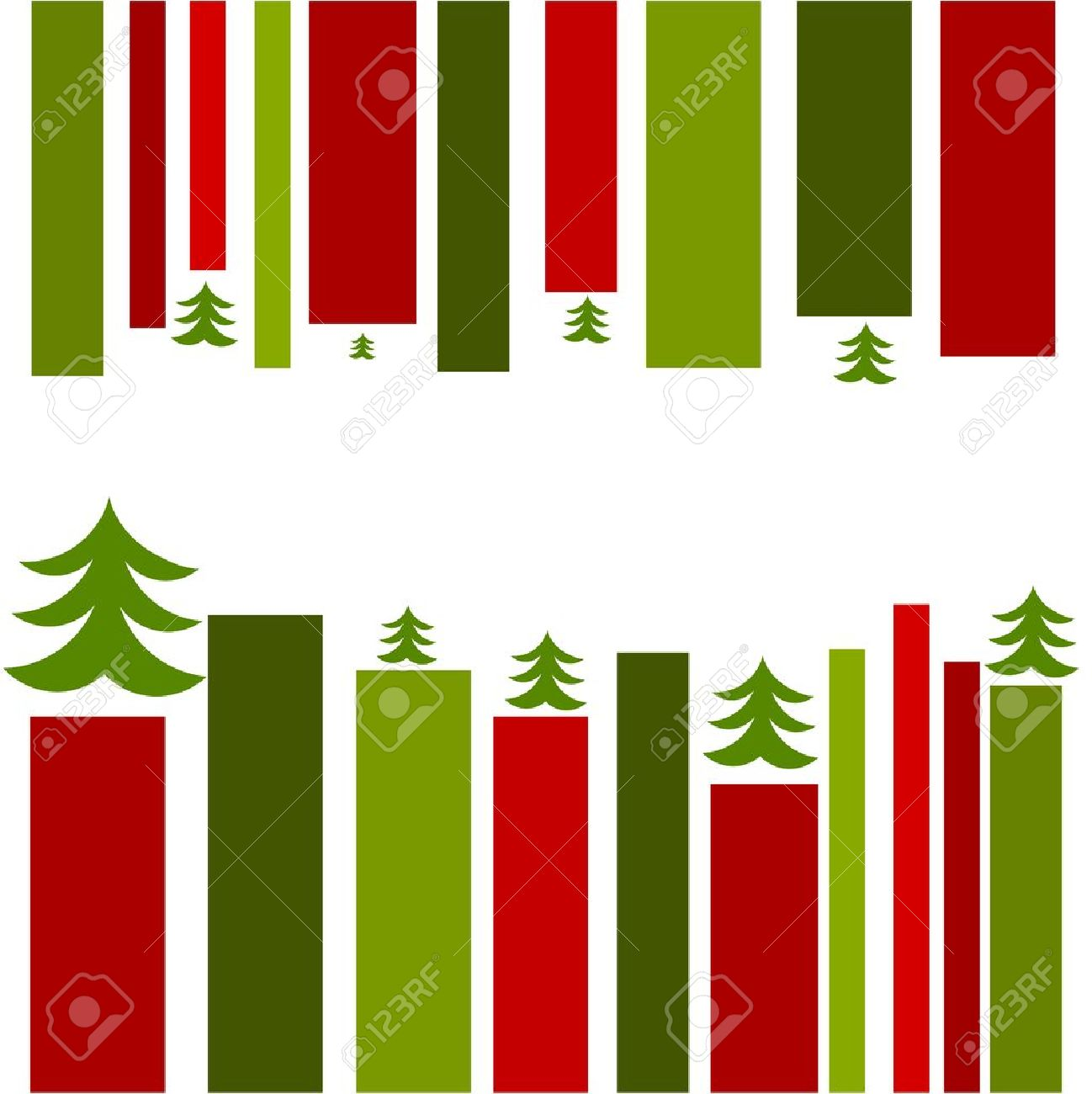 Christmas card design. Red and green stripes Stock Vector - 11588079