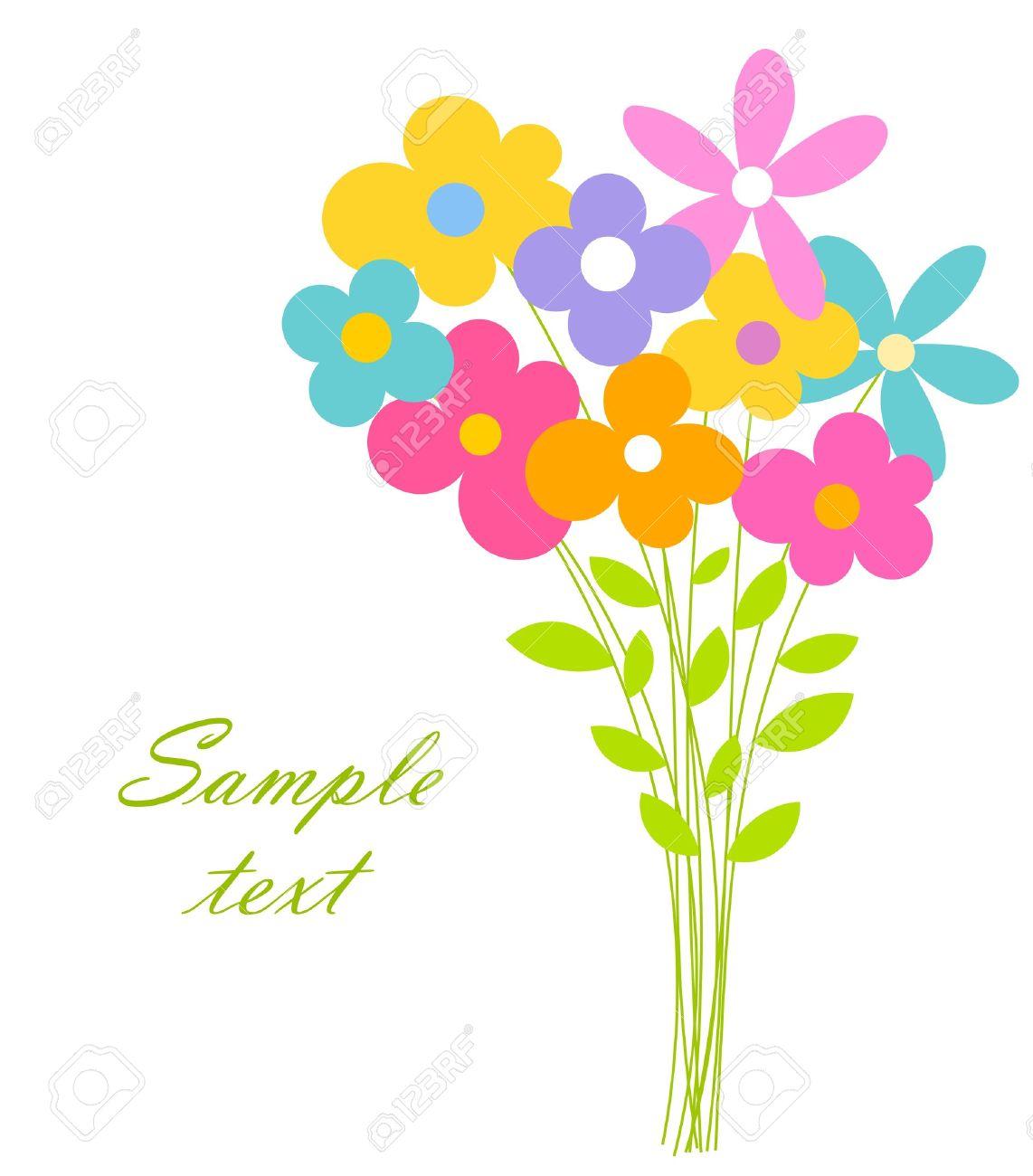 かわいい花束ベクトル イラストのイラスト素材ベクタ Image 12486874