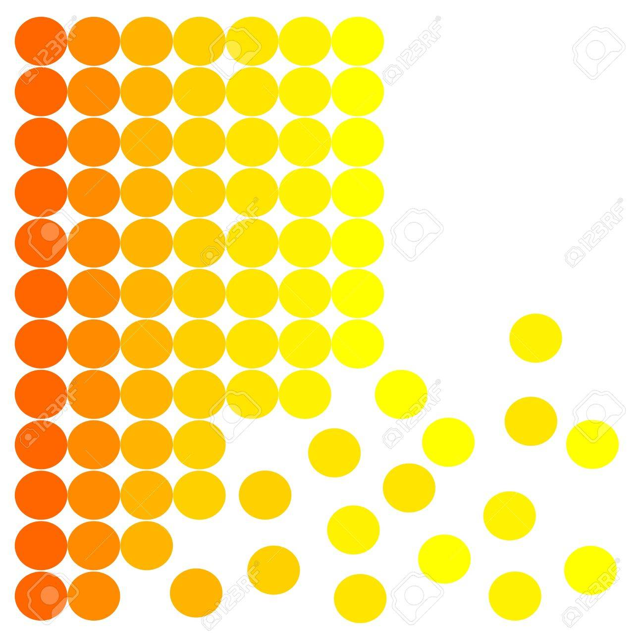 Original background made of orange and yellow spots Stock Vector - 12486983
