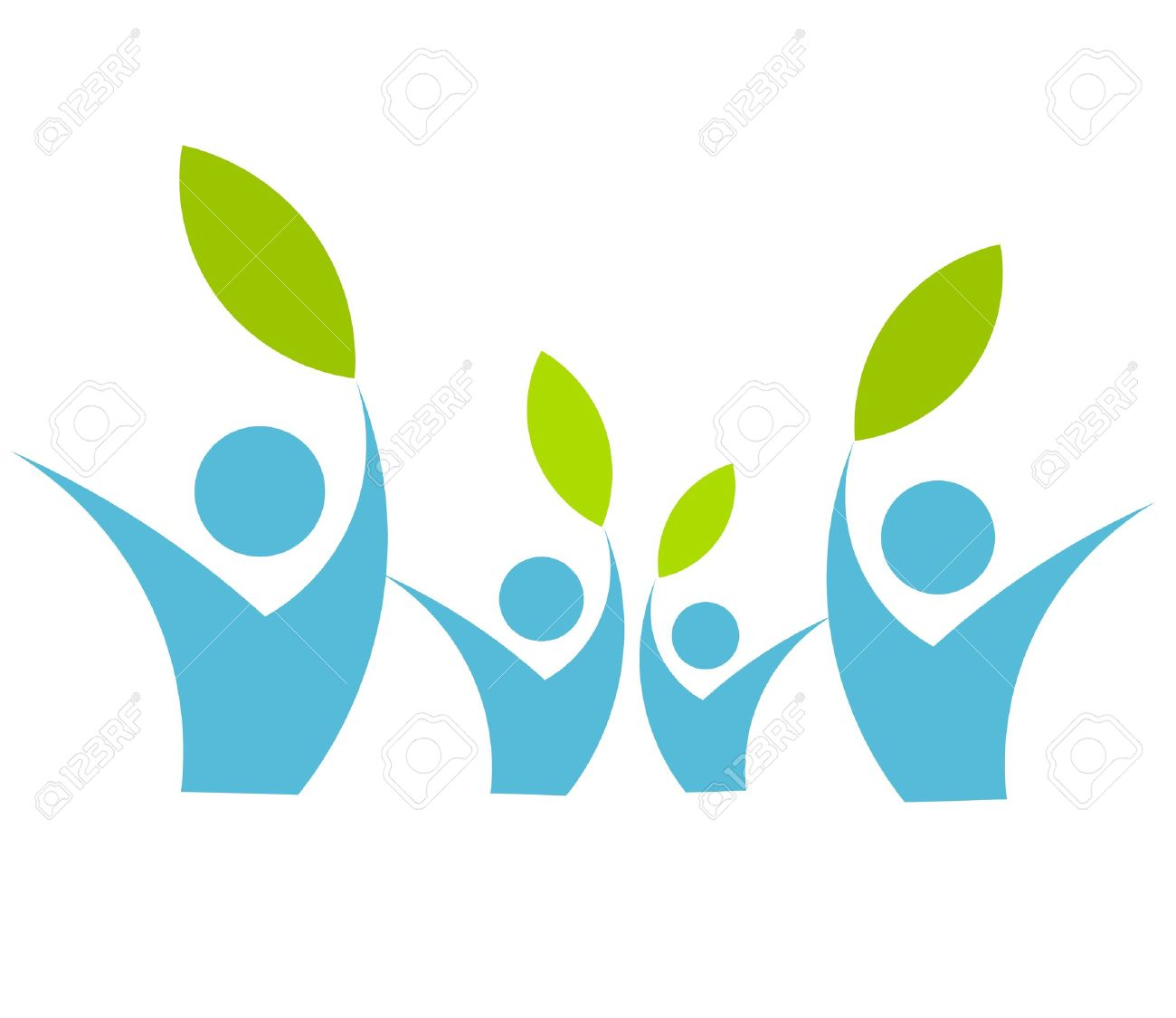 Eco friendly family concept - vector illustration Stock Vector - 12935167