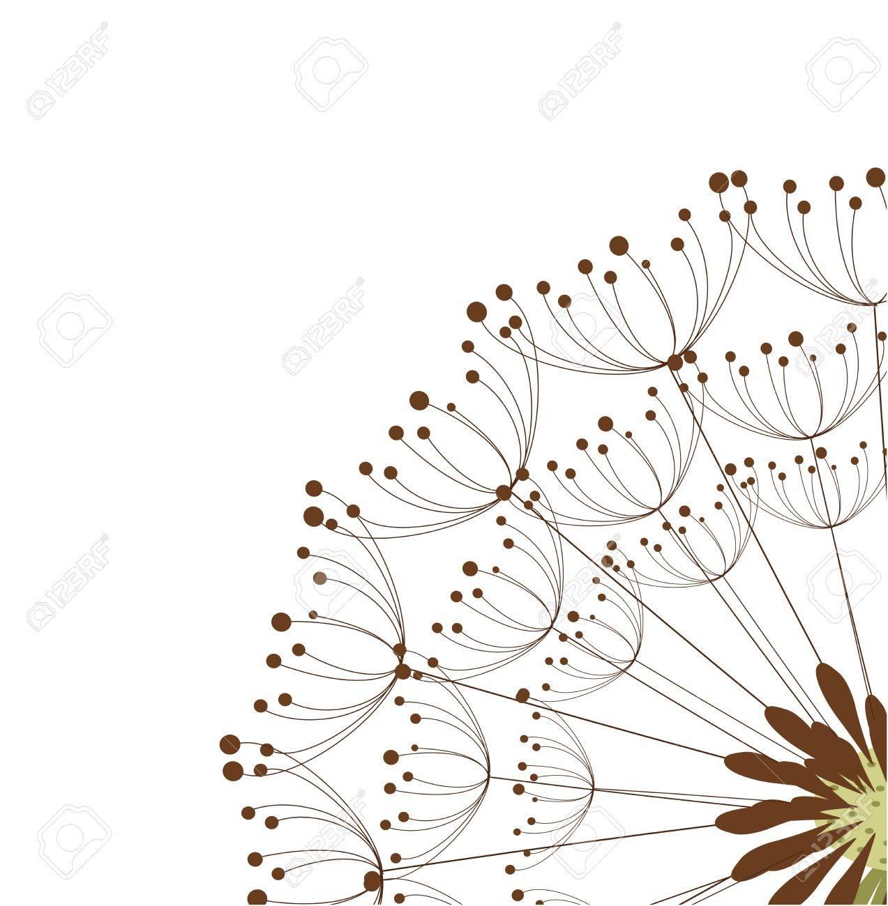 Close up of dandelion flower. Vector illustration Stock Vector - 12935263