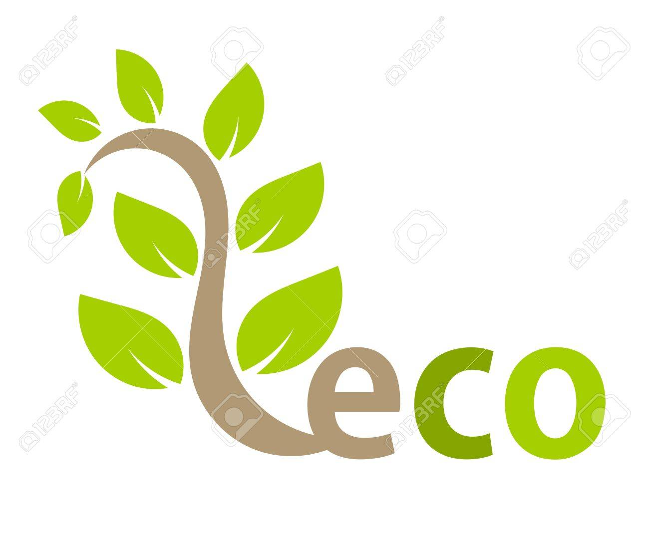 Eco symbol plant. Vector illustration Stock Vector - 12935252
