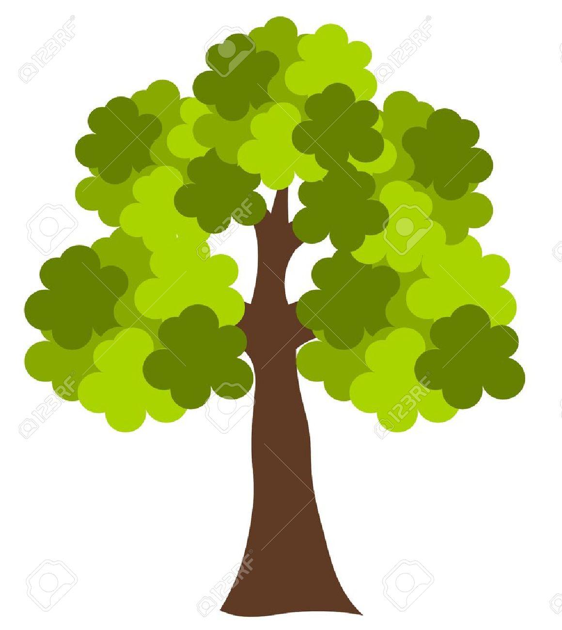 big green oak tree vector illustration royalty free cliparts rh 123rf com oak tree vector silhouette oak tree vector download