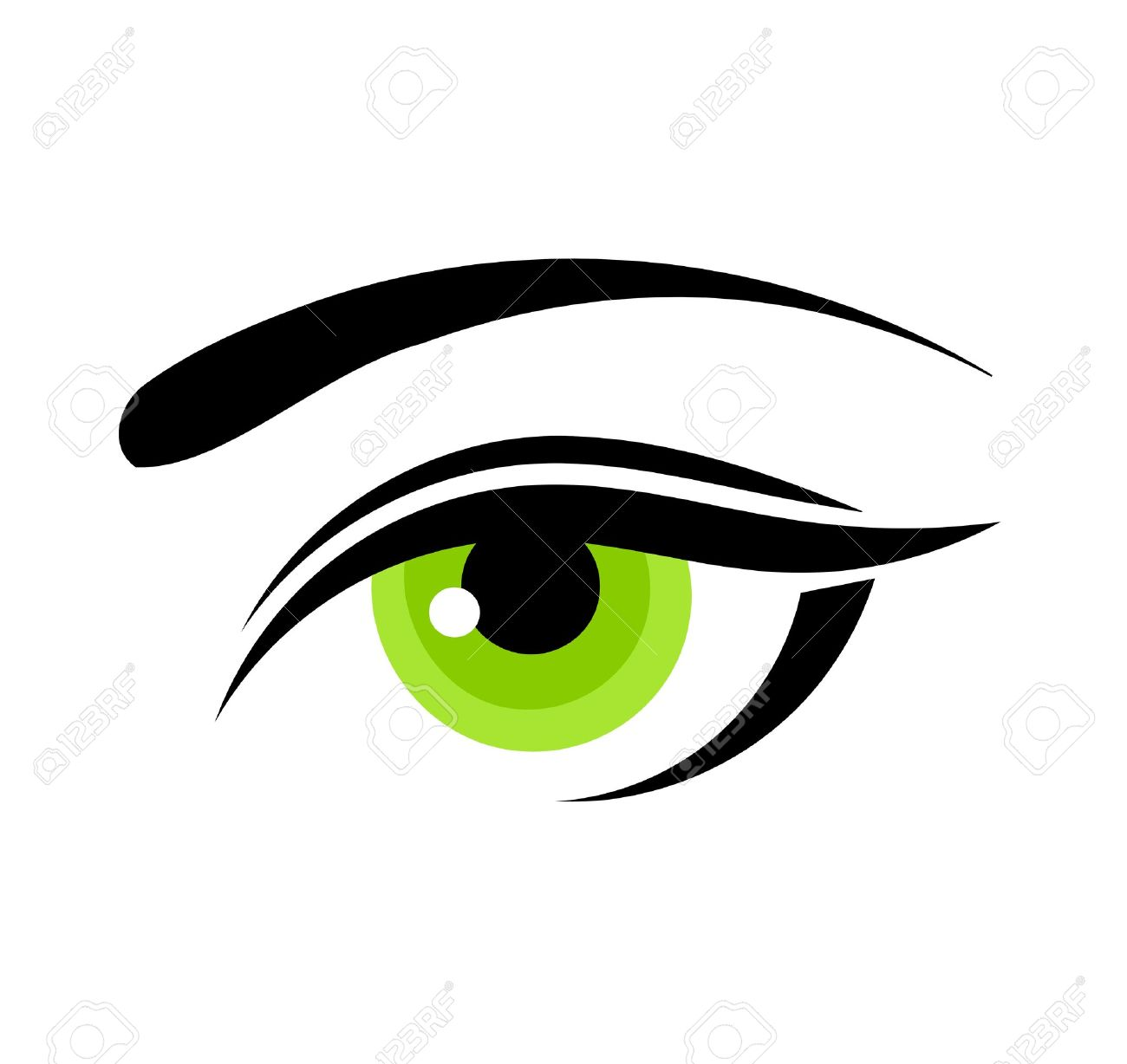 beautiful green woman eye vector illustration royalty free cliparts rh 123rf com eye vector free download eye vector image