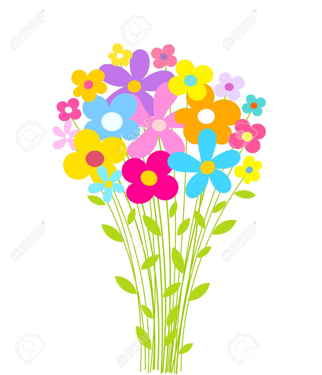 Flowers bouquet. Vector illustration