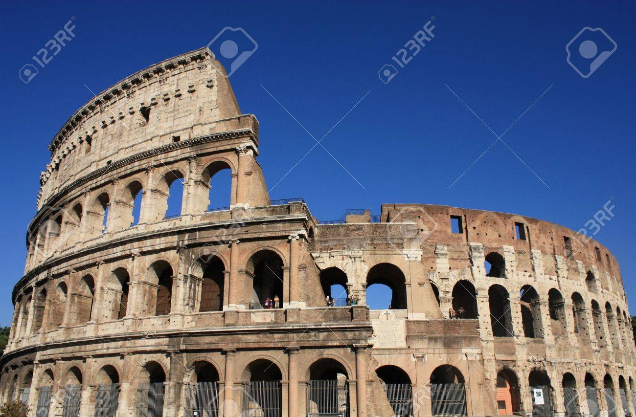 Contemporary Roman Architecture Colosseum Inaugurated In Ad
