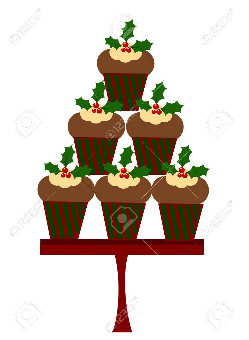 Christmas cupcakes Stock Vector - 16016010