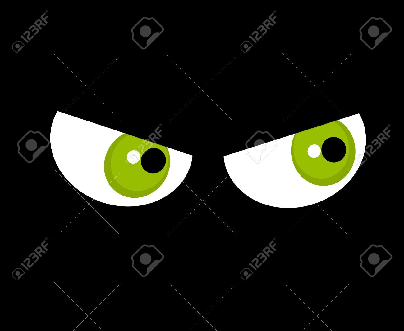 Angry Green Eyes Halloween Royalty Free Cliparts Vectors And Stock Illustration Image 16016695