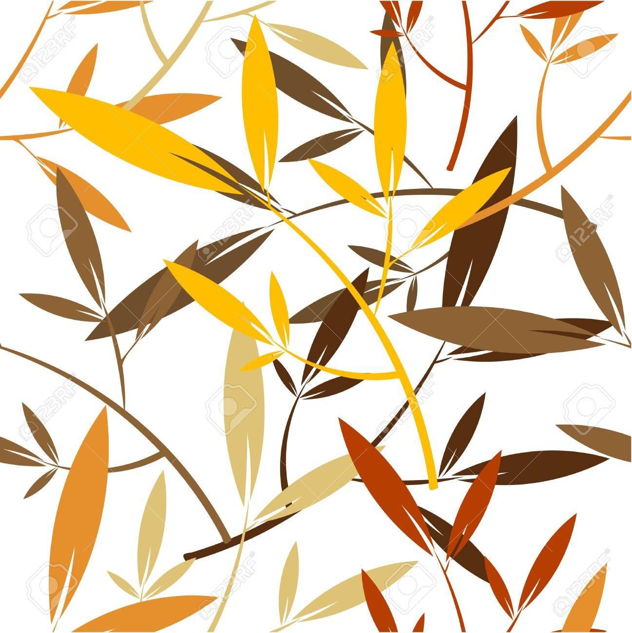 Autumn leaves - seamless pattern Stock Vector - 16842601