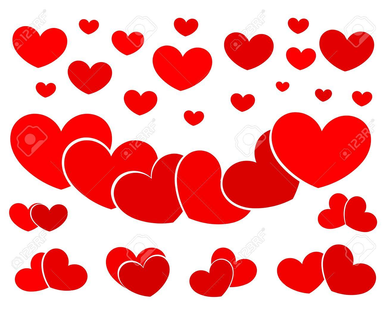 Hearts collection Stock Vector - 18137224
