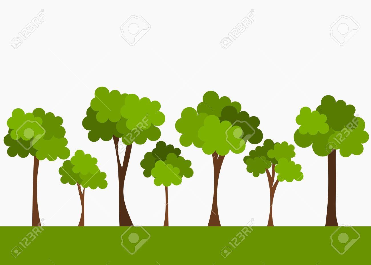 trees vector illustration royalty free cliparts vectors and stock rh 123rf com tree vector silhouette tree vector silhouette