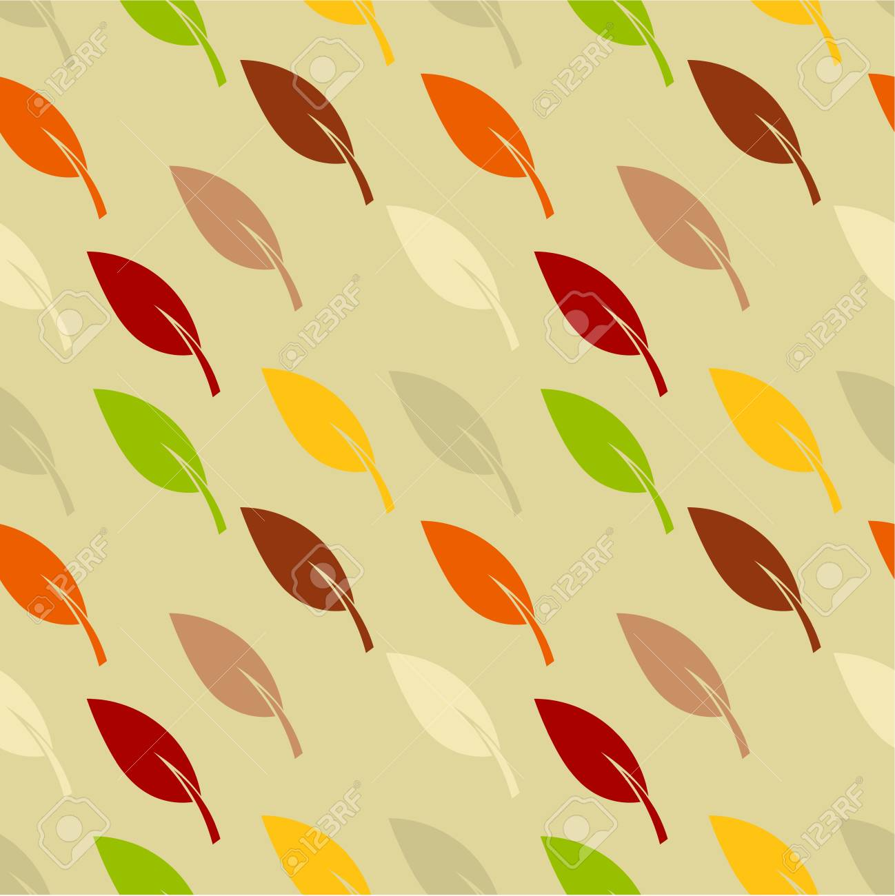 Autumn texture with leaves - seamless pattern Stock Vector - 18545040