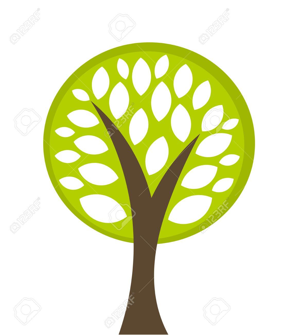 Eco tree symbol illustration Stock Vector - 19905724