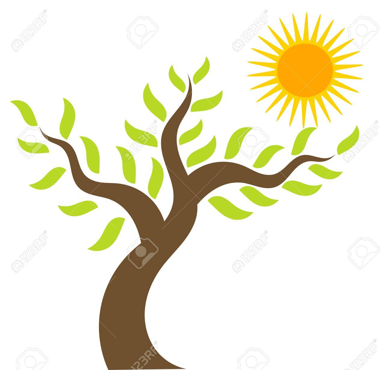 spring tree and sun vector illustration royalty free cliparts rh 123rf com vector spring flowers vector spring interp