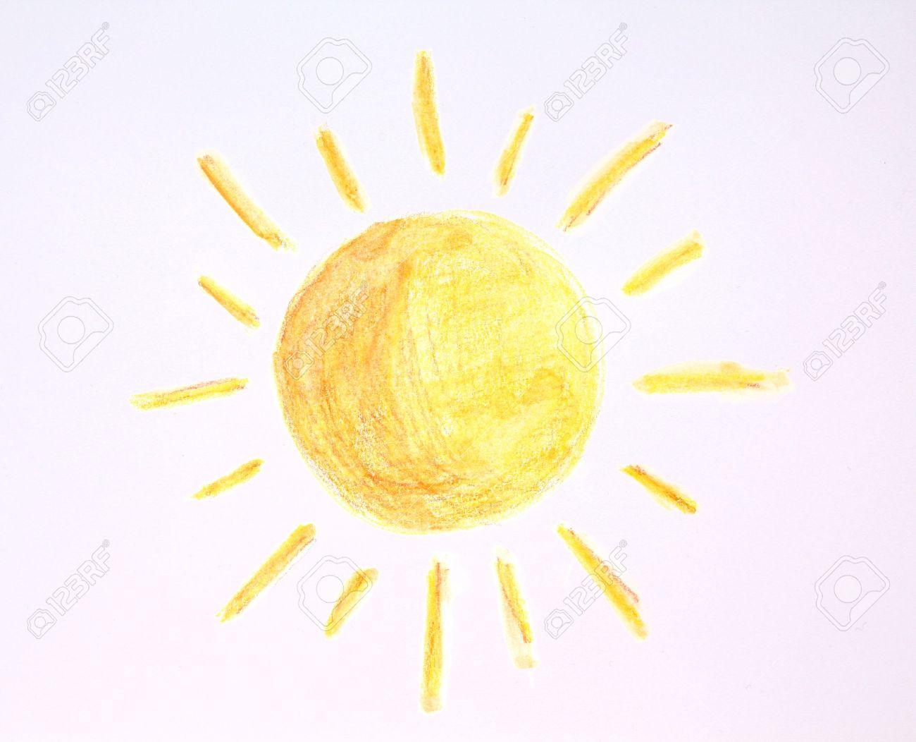 dibujo de sol hecho por los creyones estilo de ilustración infantil