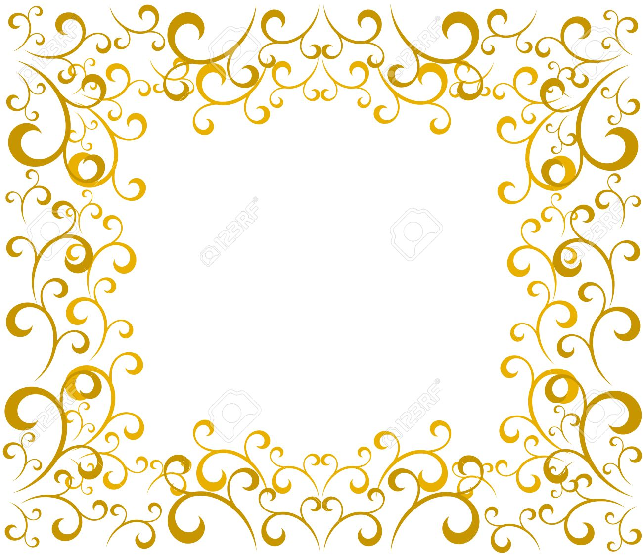 elegant gold vintage christmas border vector illustration royalty
