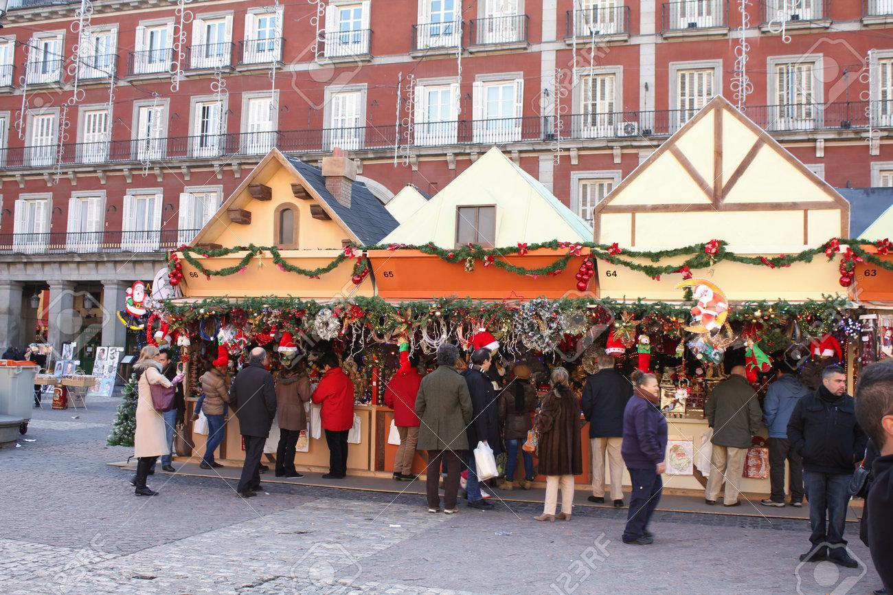 Stände Weihnachtsmarkt.Stock Photo