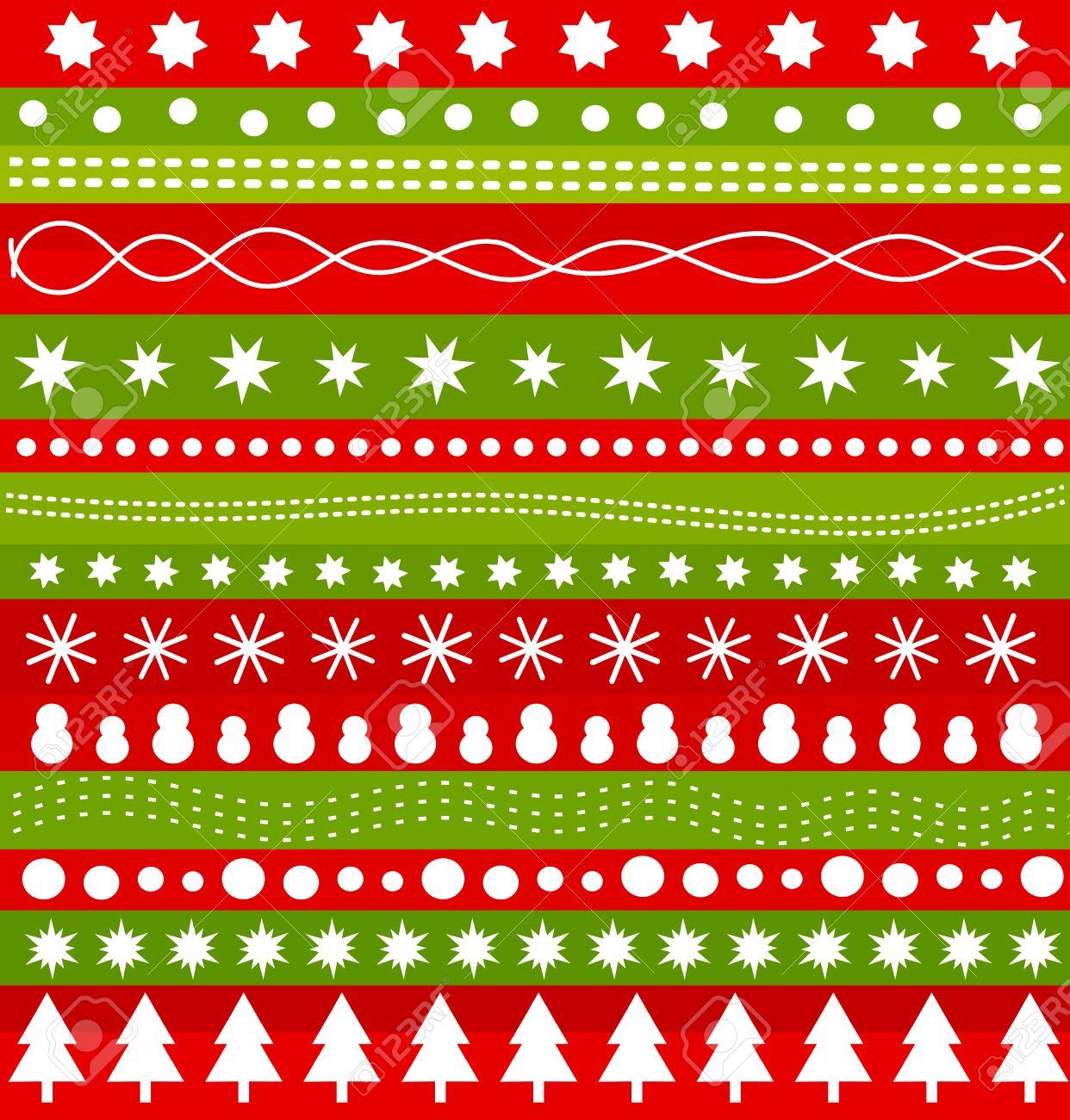 Christmas Pattern In Scandinavian Style. Vector Illustration ...