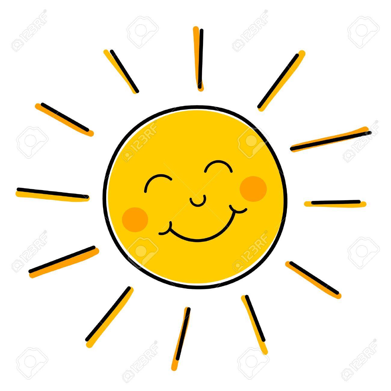 Zeichnung Von Glücklich Lächelnden Sonne. Lizenzfrei Nutzbare  Vektorgrafiken, Clip Arts, Illustrationen. Image 27345037.