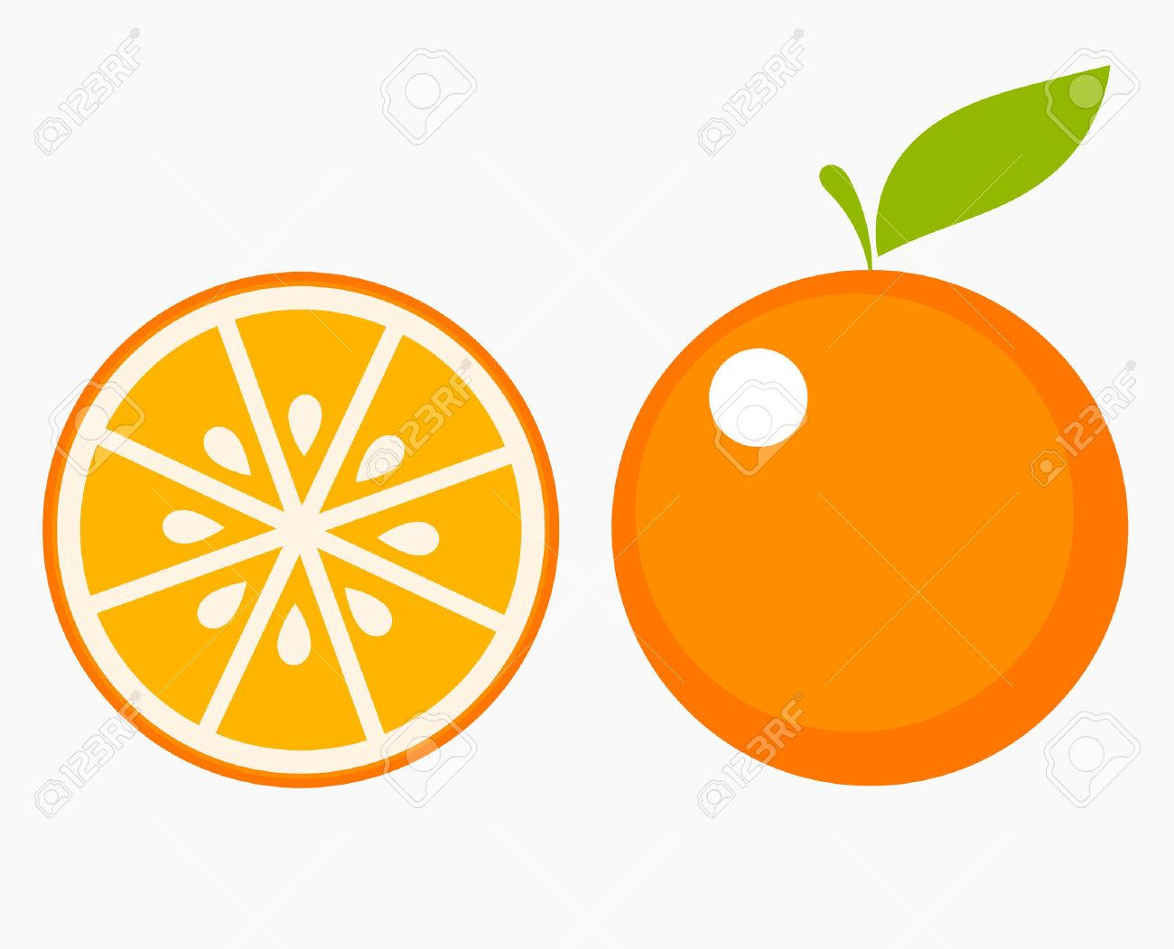 orange fruit with leaf and slice vector illustration royalty free rh 123rf com orange vector png orange vector control