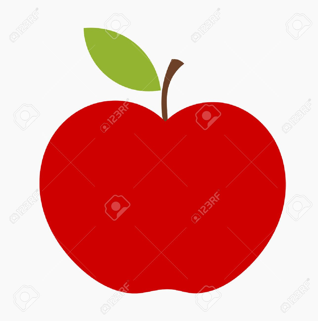 Red Apple Icon. Royalty Free Cliparts, Vectors, And Stock ...