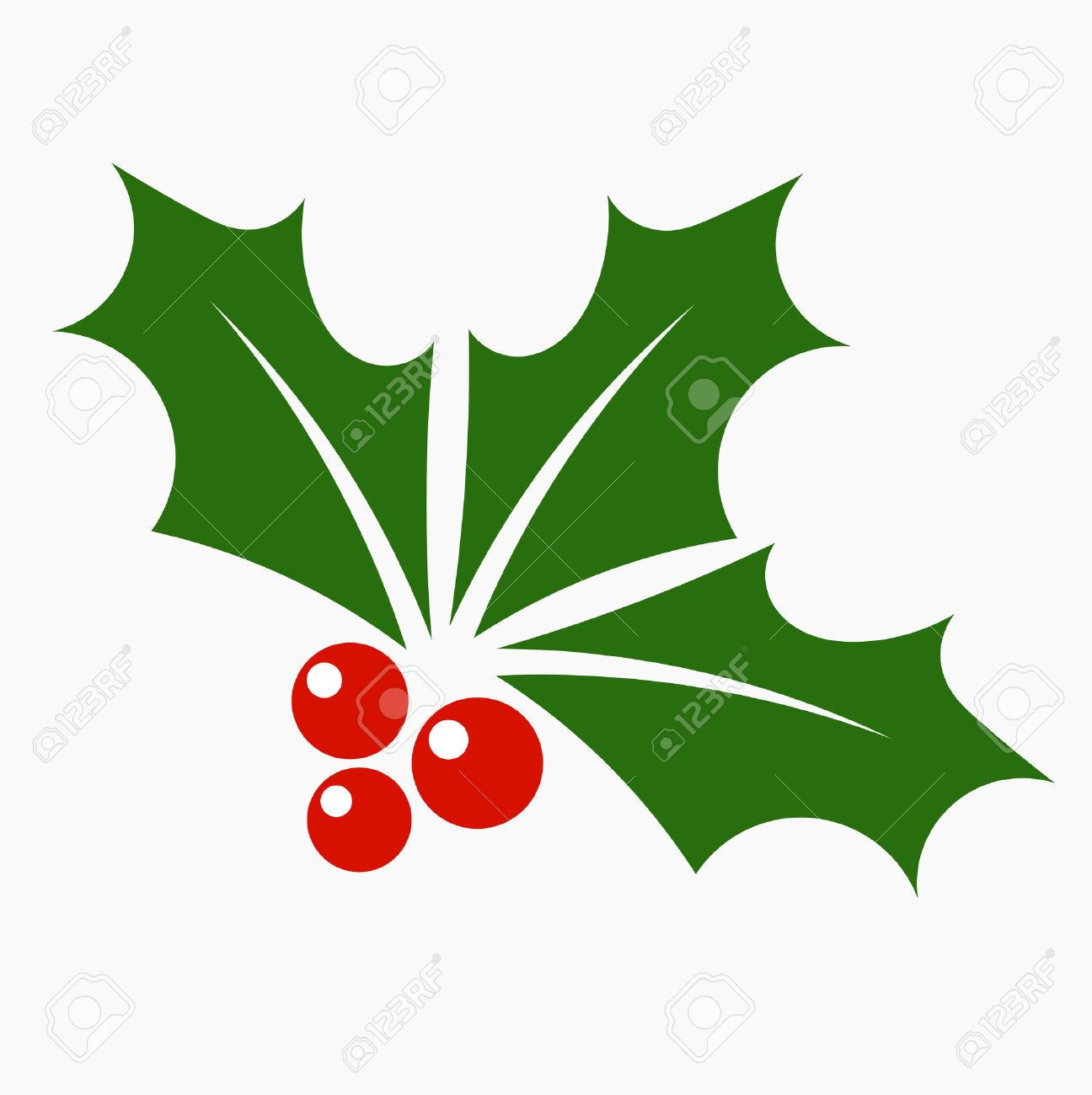 Holly berry icon. Christmas symbol vector illustration - 30522036
