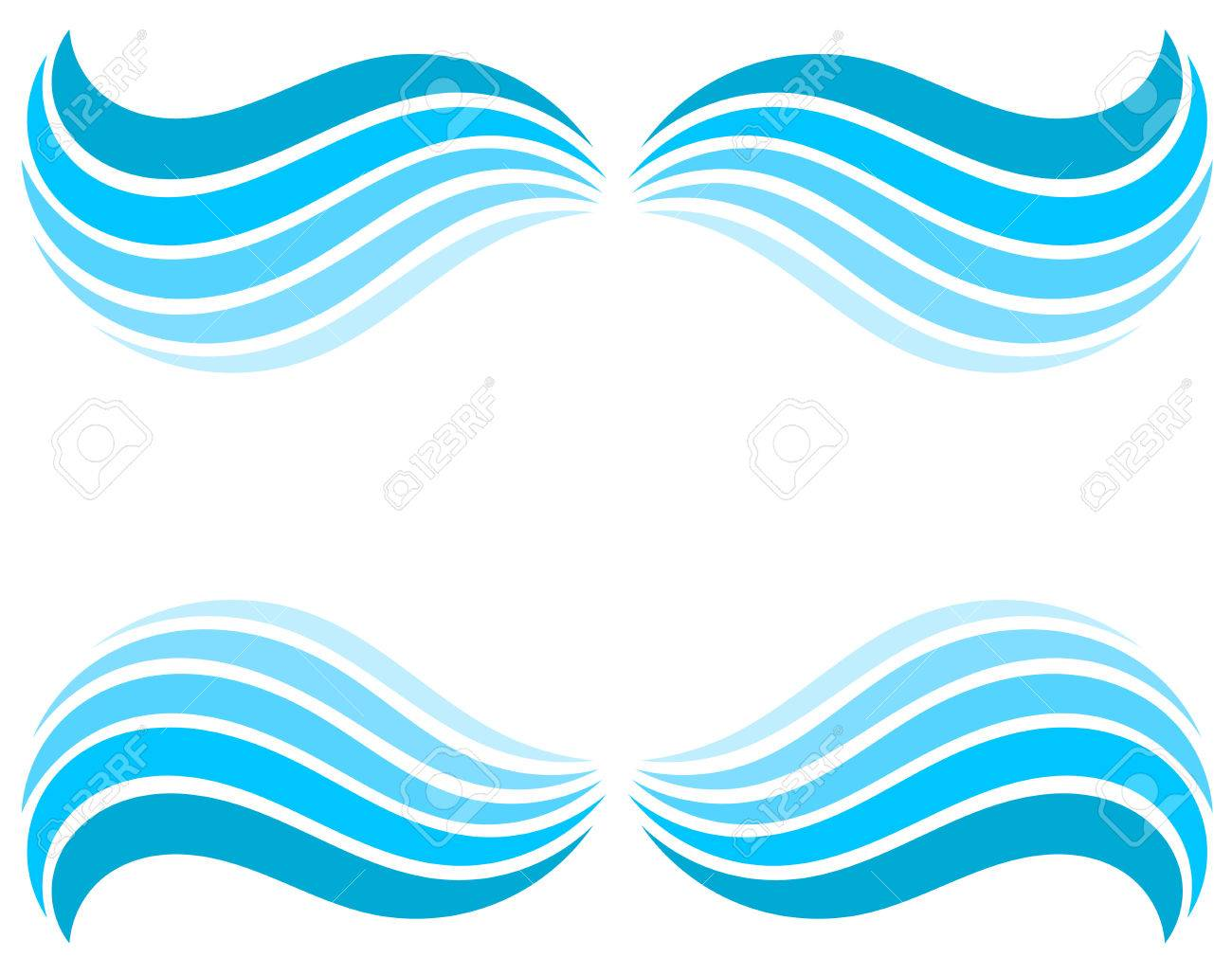 water waves border vector illustration royalty free cliparts rh 123rf com wave vector free wave vector lines png