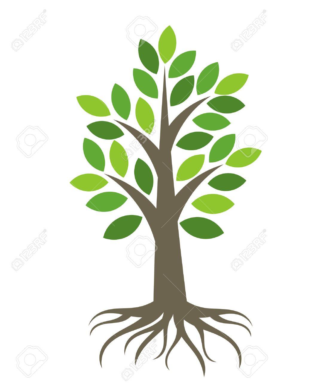 Arbre Avec Racine arbre avec des racines icône. banque d'images et photos libres de