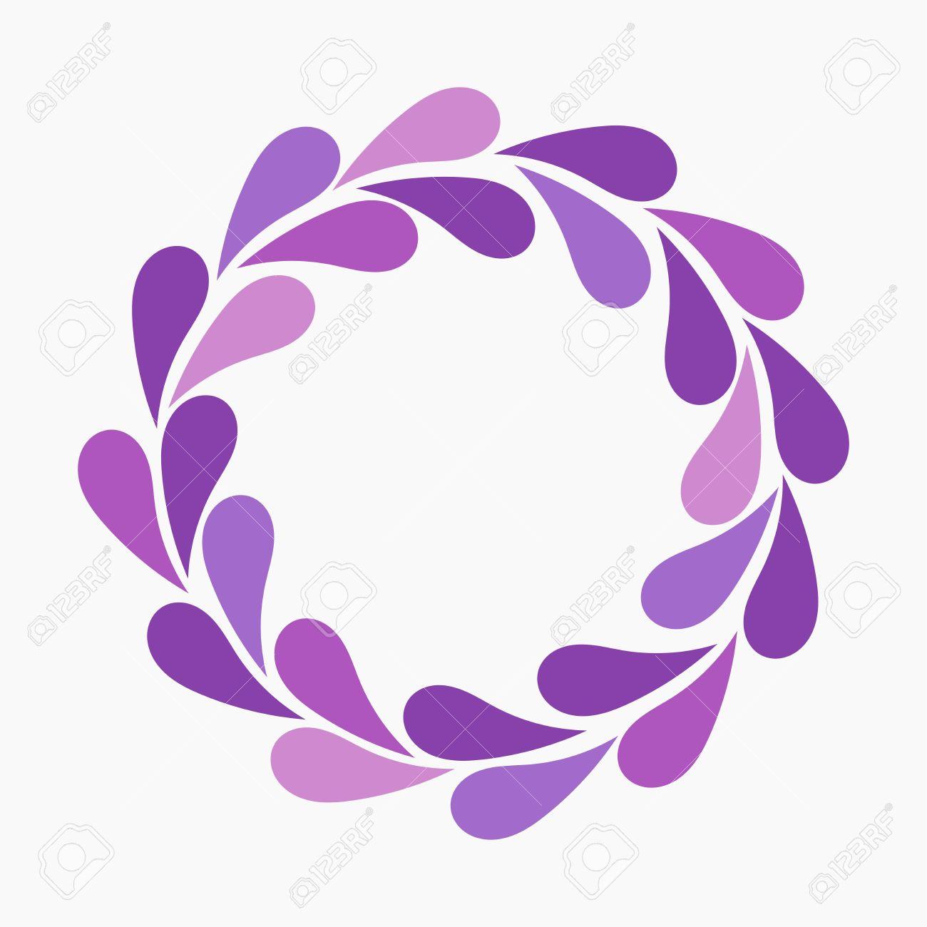 Purple flower petals wreath vector illustration royalty free purple flower petals wreath vector illustration stock vector 39082399 mightylinksfo