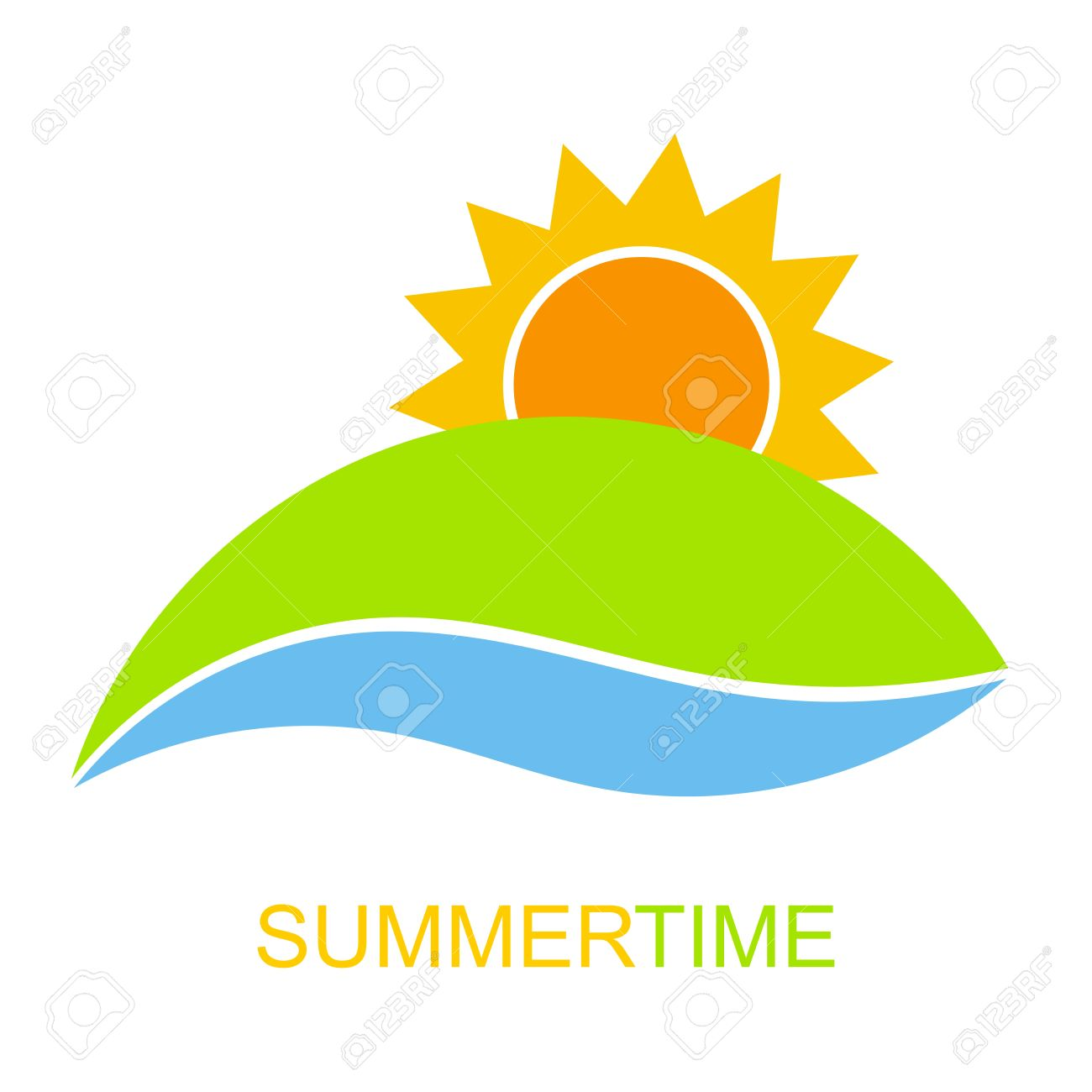 summertime icon vector sunrise over hill and river royalty free rh 123rf com Free Vector Mountain Sunrise Free Vector Mountain Sunrise