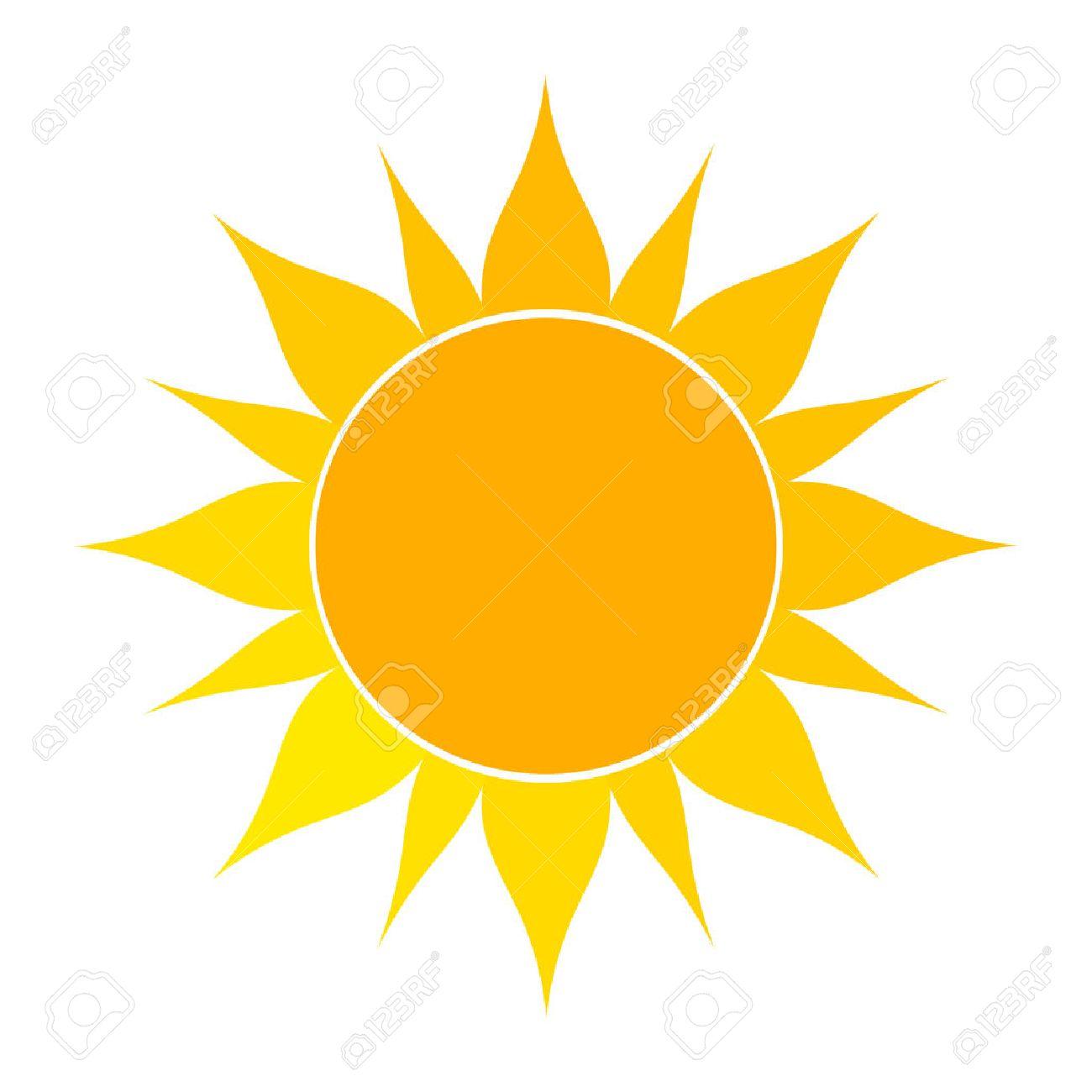 Flat sun icon. Vector illustration on white background - 47524979