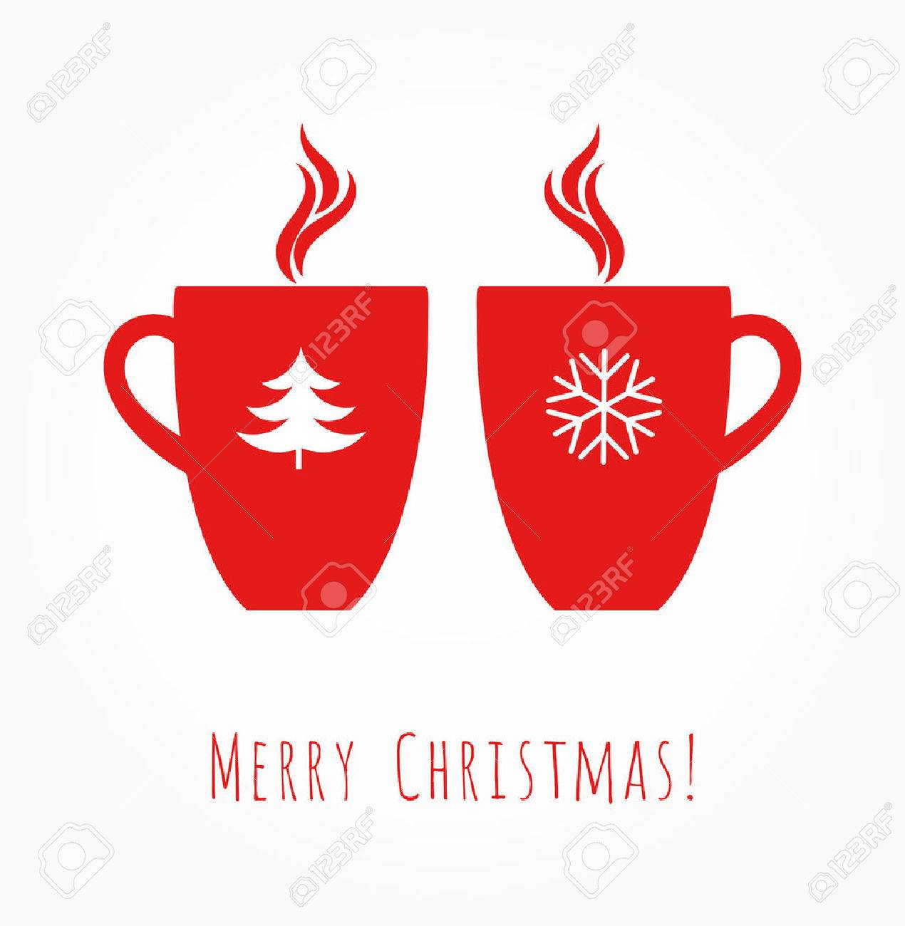 Red Christmas Coffee Mugs Vector Illustration Royalty Free Cliparts Vectors And Stock Illustration Image 68889825